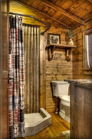 Land S End Development Rustic Bathroom Remodel Cabin Bathrooms