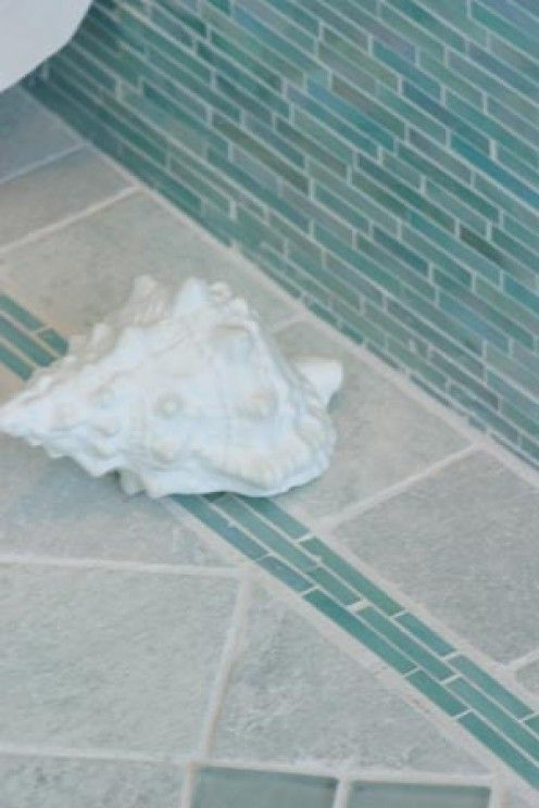 Aqua Teal and Turquoise Home Remodeling Ideas Shower floor tile
