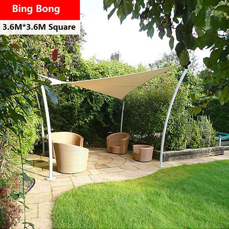 Outdoor Sun Shade Sail Awning Canopy Shading Waterproof Cloth 3 6 3 6m Tents Gazebo Garden Toldo Anti Uv Sunscreen Swimmi Patio Shade Pergola Shade Sails Patio