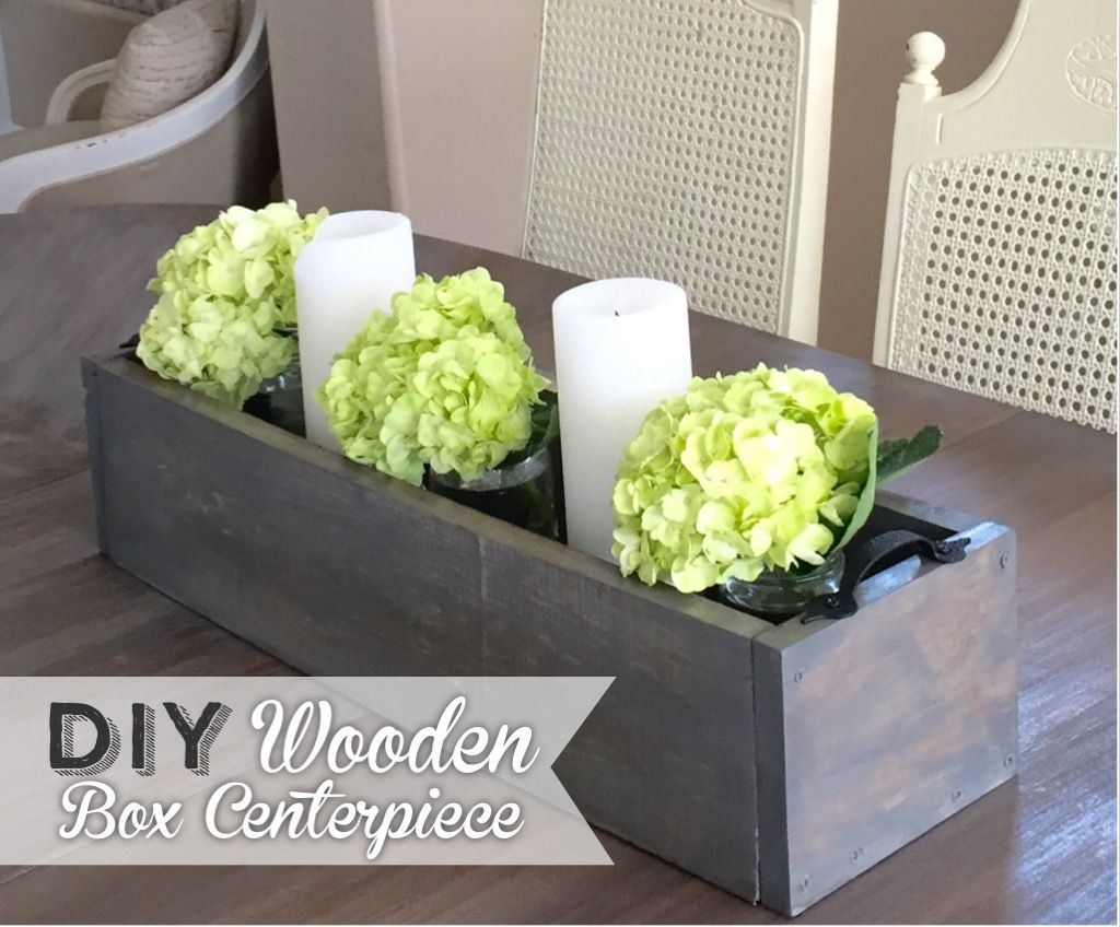 Diy wooden box centerpiece
