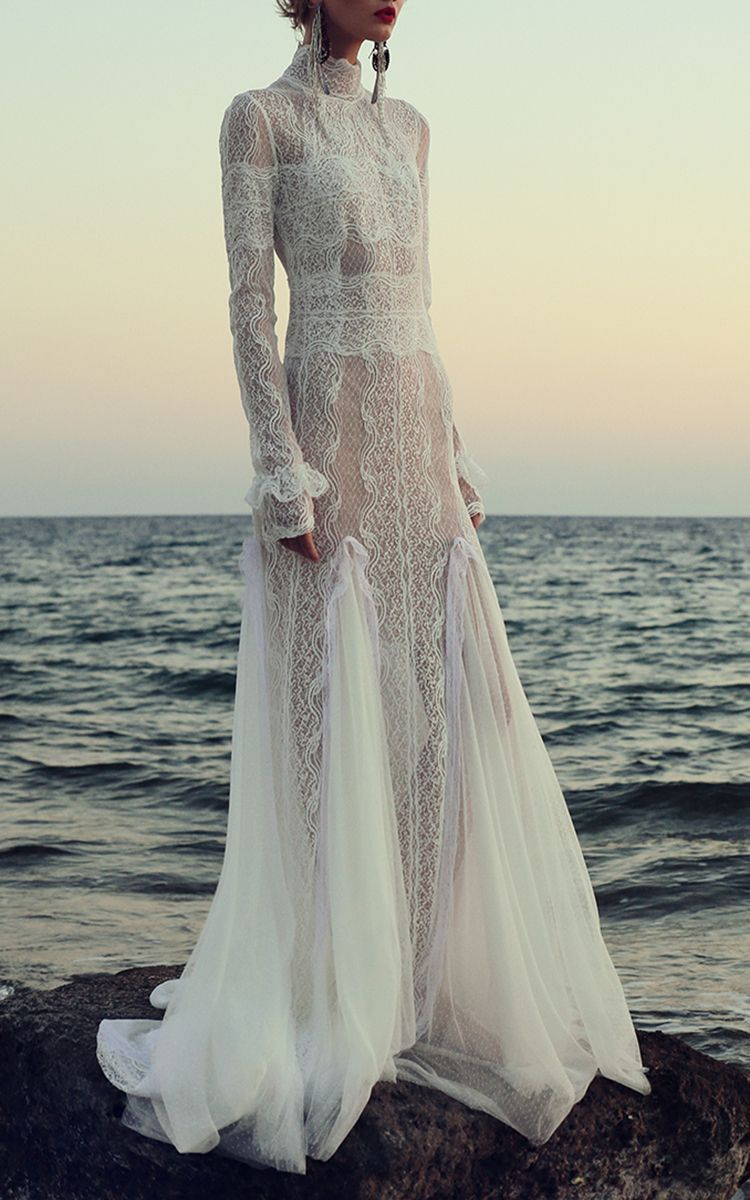 Dotted Swiss Victorian Gown By Costarellos For Preorder On Moda Operandi