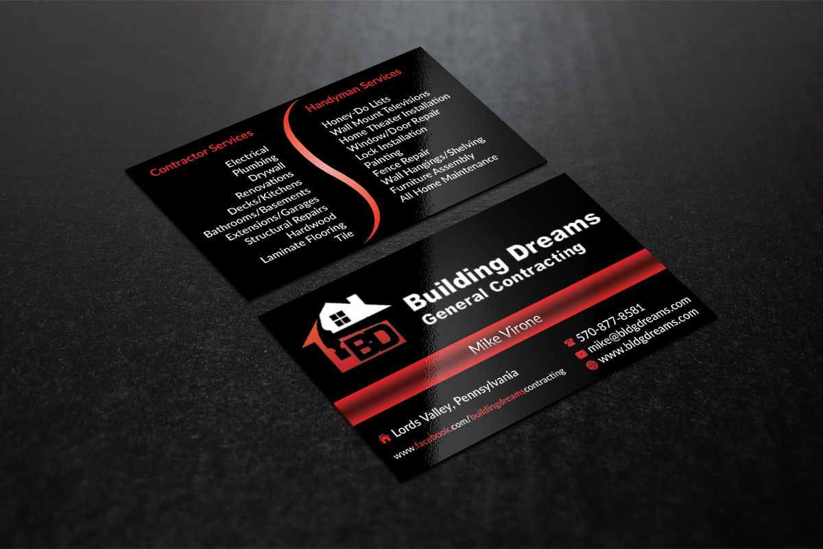 Pretty General Contractor Business Card Photos - Business Card Ideas ...