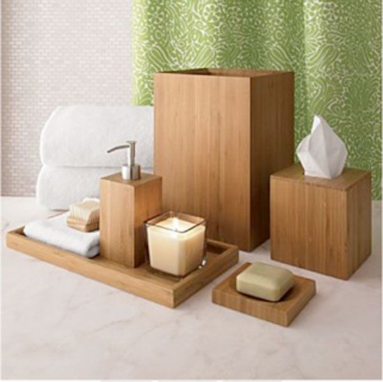 8 Essential Bathroom Accessories Chic Bathroom Decor Bamboo Bathroom Accessories Bathroom Decor