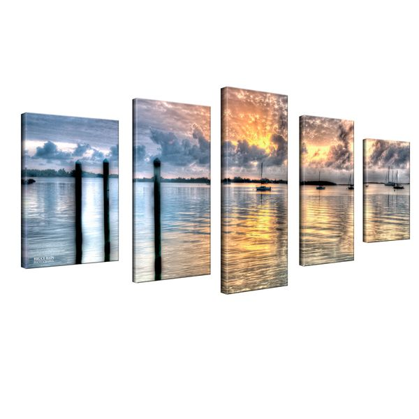 30X60X2 $141 Bruce Bain 'Calm Waters' 5-piece Canvas Wall Art - Overstock™ Shopping - Top Rated Ready2hangart Canvas