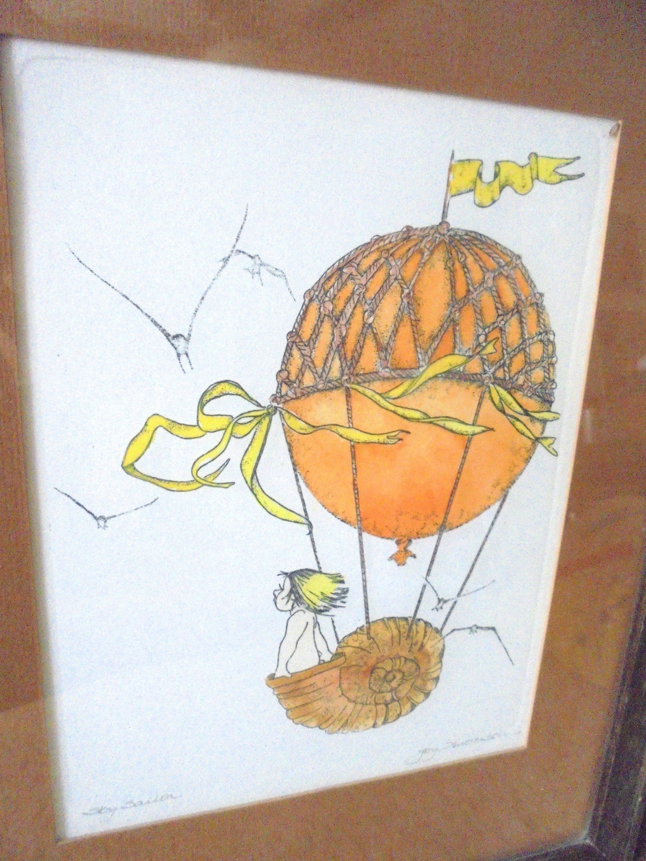 Original Painting Joy Anderson Chicago Hot Air Balloon