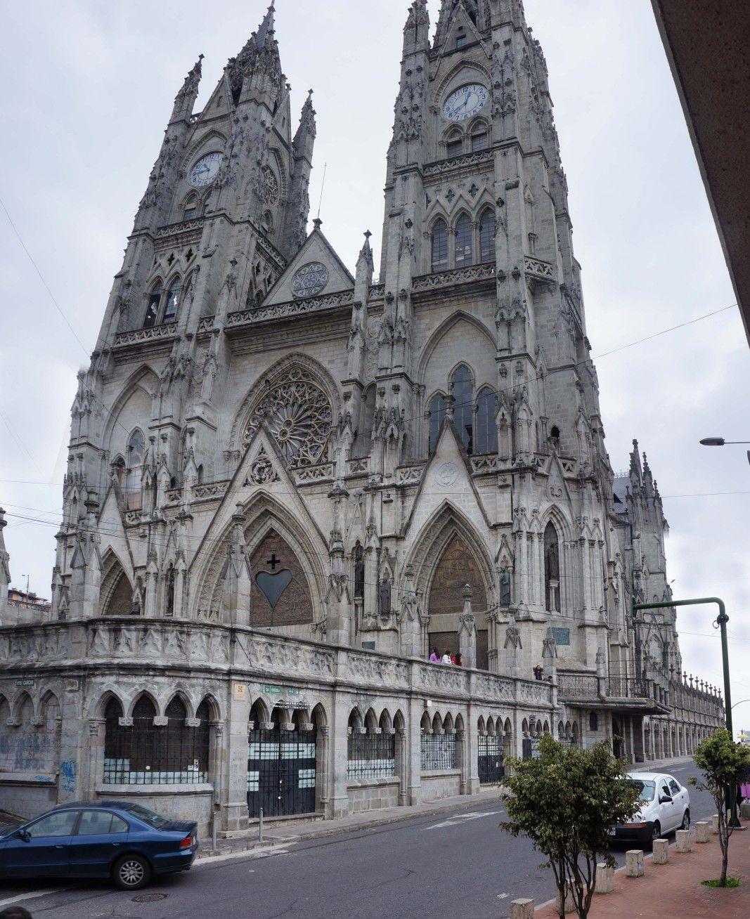 Neo-Gothic Basilica Roman Catholic Church, Quito Ecuador