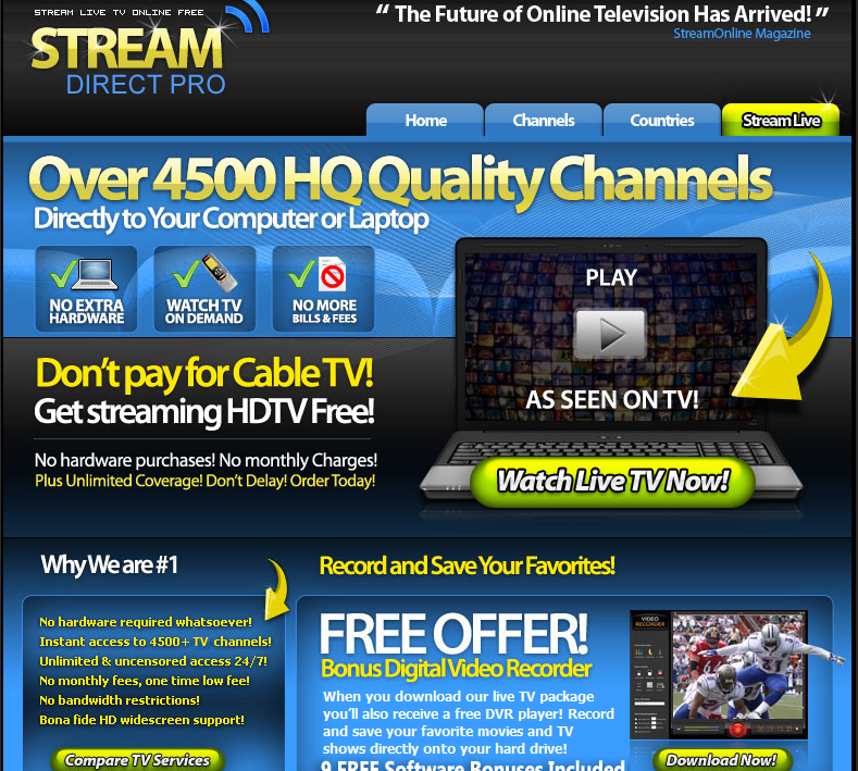 Free adult internet tv player