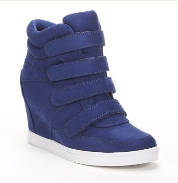 MUDD wedge sneaker In Cobalt... I just ordered these :)
