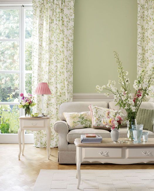 Honeysuckle Embroidery Floral Cotton Cushion | Laura Ashley USA ...