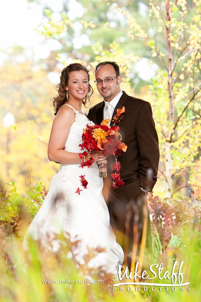#wedding pictures #romantics #wedding poses #wedding couple #bridal pictures #Michigan wedding #Mike Staff Productions #wedding photography #fall wedding http://www.mikestaff.com/services/photography