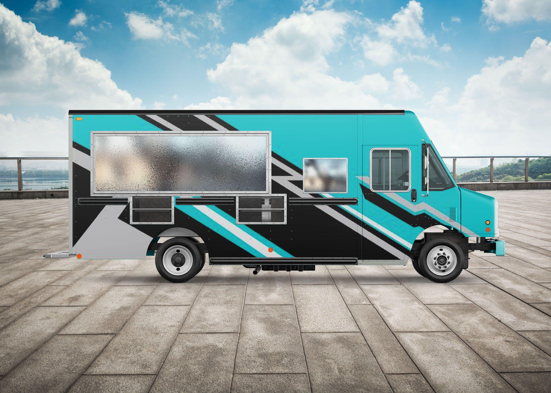Taco Burger Food Truck Mockup Mockup Free Psd Free Mockup Logo Design Mockup