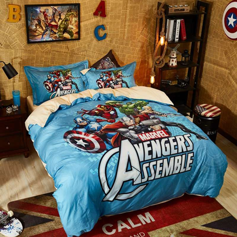 Marvel Avengers Assemble Bed In A Bag Twin Queen Bedding Set Marvel Bedding Queen Bedding Sets Marvel Bedroom