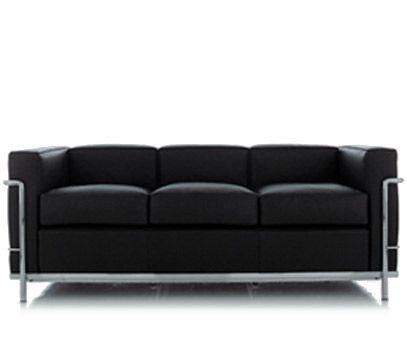 le corbusier lc2 3 seat sofa Design Le Corbusier Pierre Jeanneret