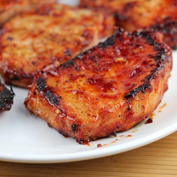 Grilled Honey Garlic Pork Chops Recipe In 2019 Honey