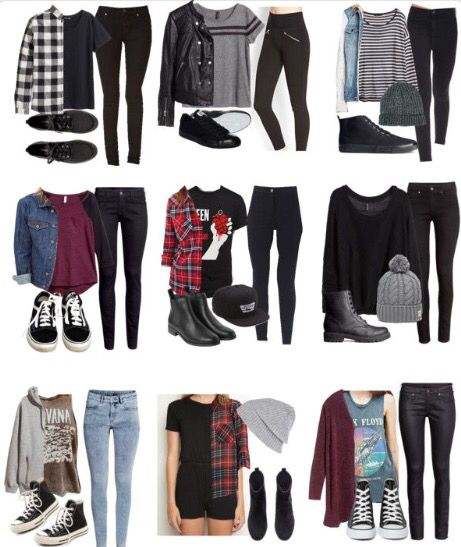 Grunge Outfits For School