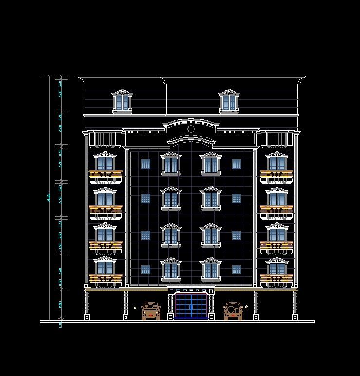 Pin on Download Building Facade CAD Drawings