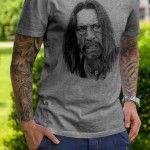 """Herren T-Shirt mit Siebdruckmotiv """"Danny Trejo"""" Hinten mit original """"Blue Banana"""" Nacken Label."""