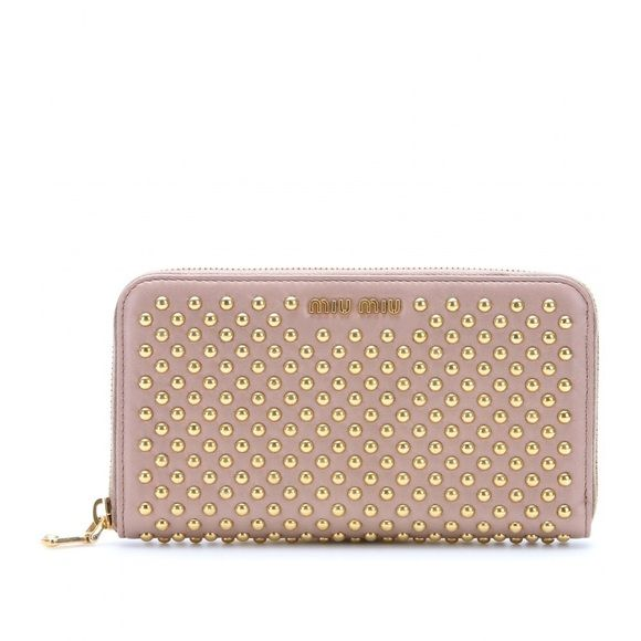 Miu Miu Studded Pink Wallet it was a gift but it s 100% authentic I have  the authenticity card. Been used gently. Miu Miu Bags Wallets 5ac578dbeb