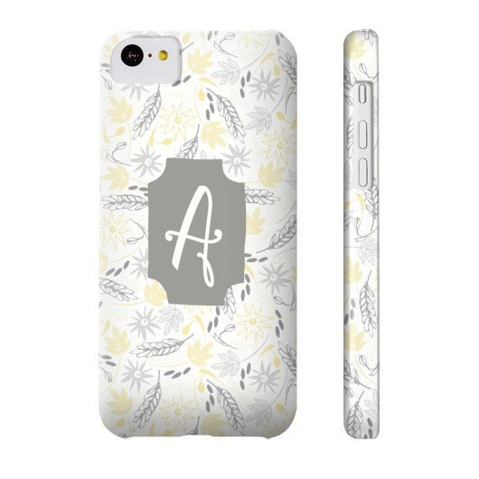 Bright & Cheery Floral Pattern Phone Case - Letter A