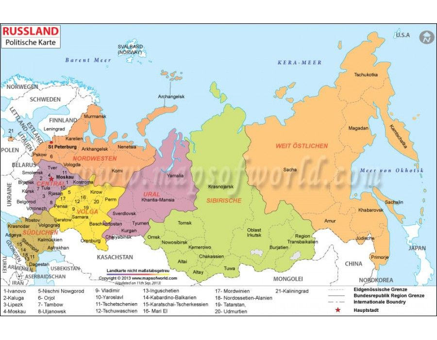 Ukraine Karte 1914.Shop Russland Politische Karte Russia Political Map In