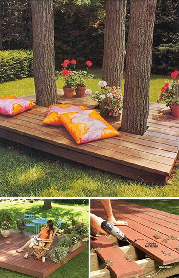 10 Amazingly Creative Diys For You Patio Idees Jardin Jardins Arbre De Jardin