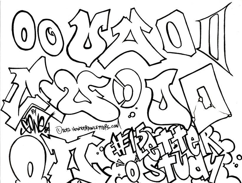 The Letter O In Graffiti Style Graffiti Lettering Graffiti