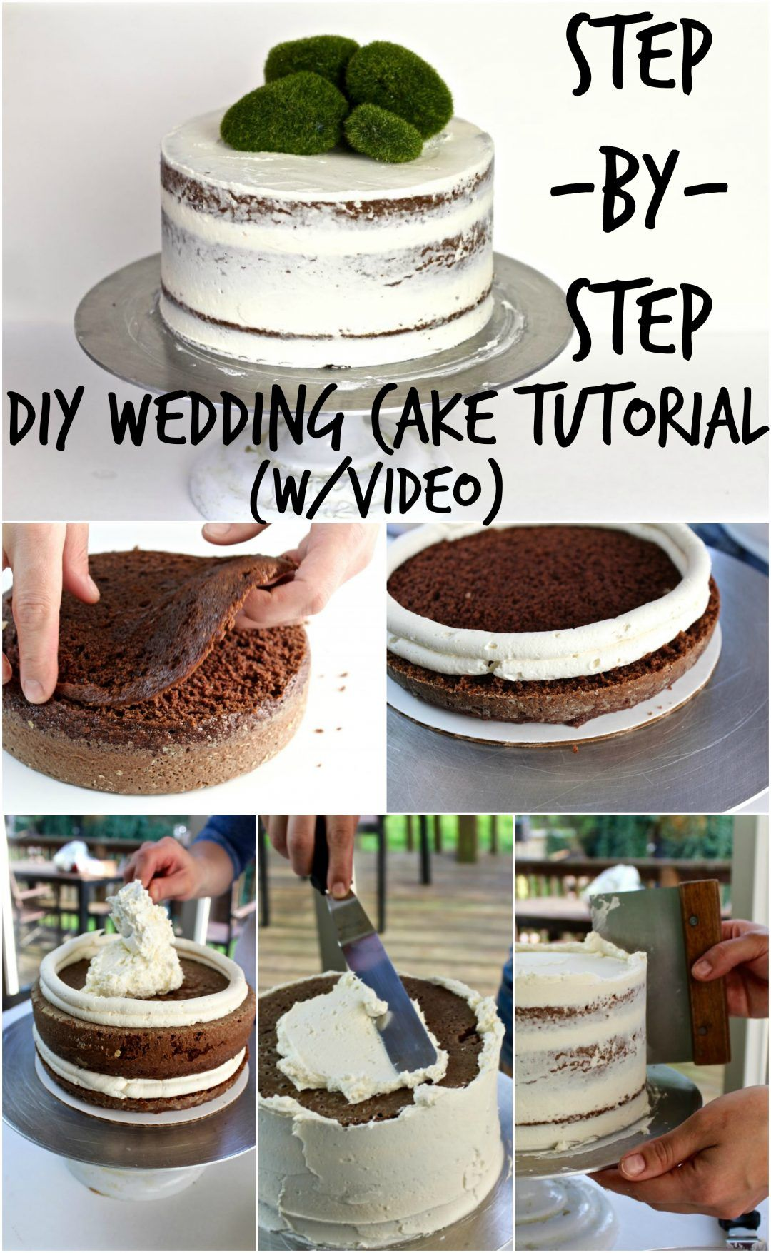 DIY WEDDING CAKE TUTORIAL | Parties and Events | Pinterest | Diy wedding cake, Cake tutorial and