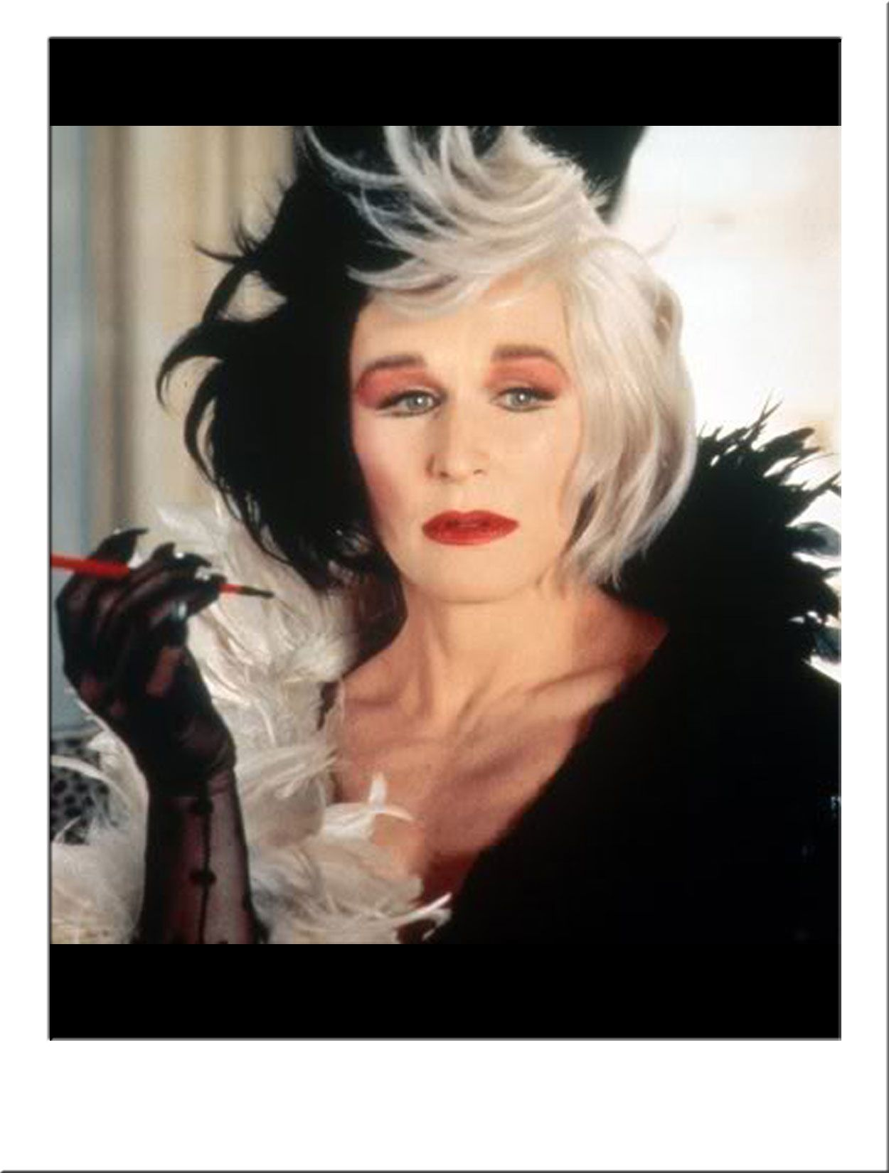 Glenn Close is Cruella de Vil - 1996 | wigs | Pinterest