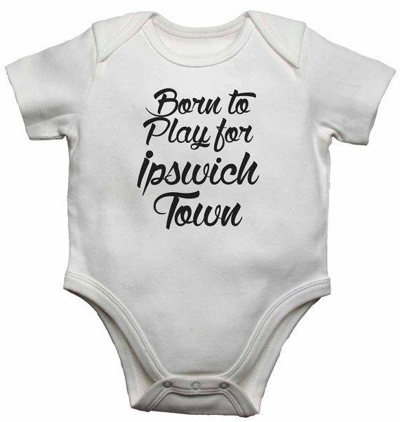 Boy//Girl Cute Personalised Gift FULHAM Football BABYGROW//Vest//Bodysuit//Romper