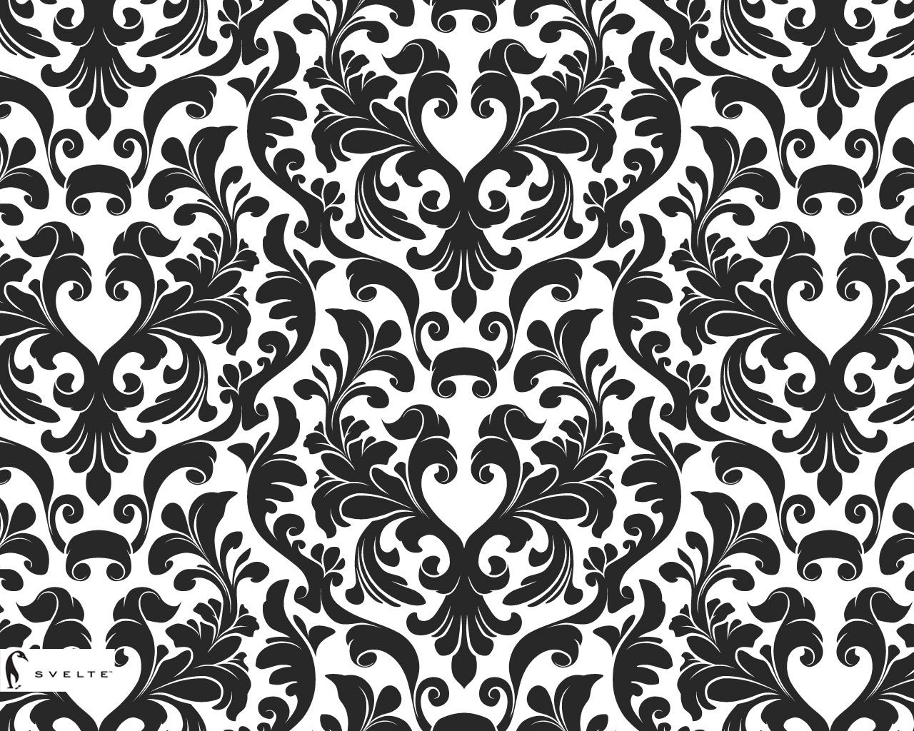 Damask Black And White Wallpaper Cushion Collection