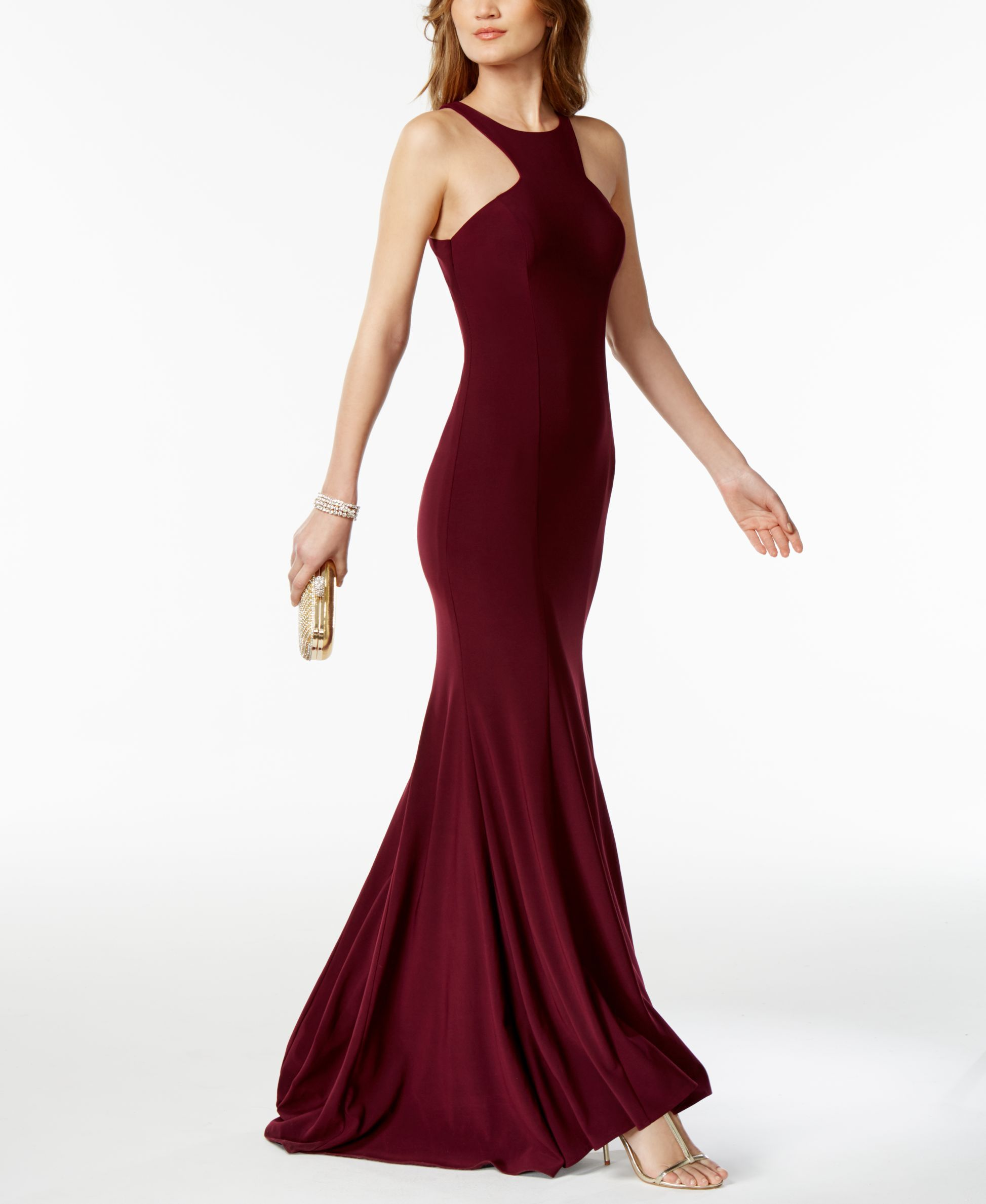 Xscape racerback halter gown products pinterest halter gown
