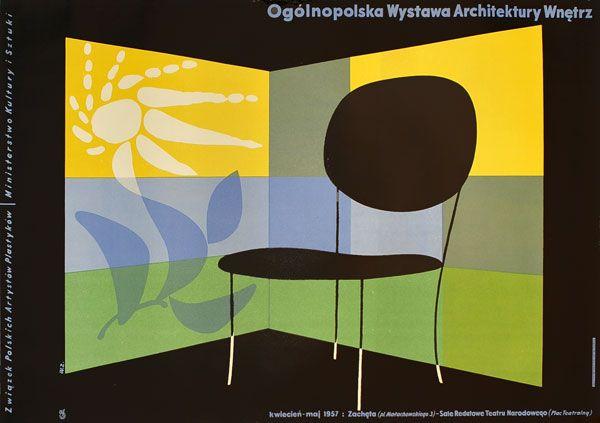 Plakat Ogólnopolskiej Wystawy Architektury Wnętrz Proj