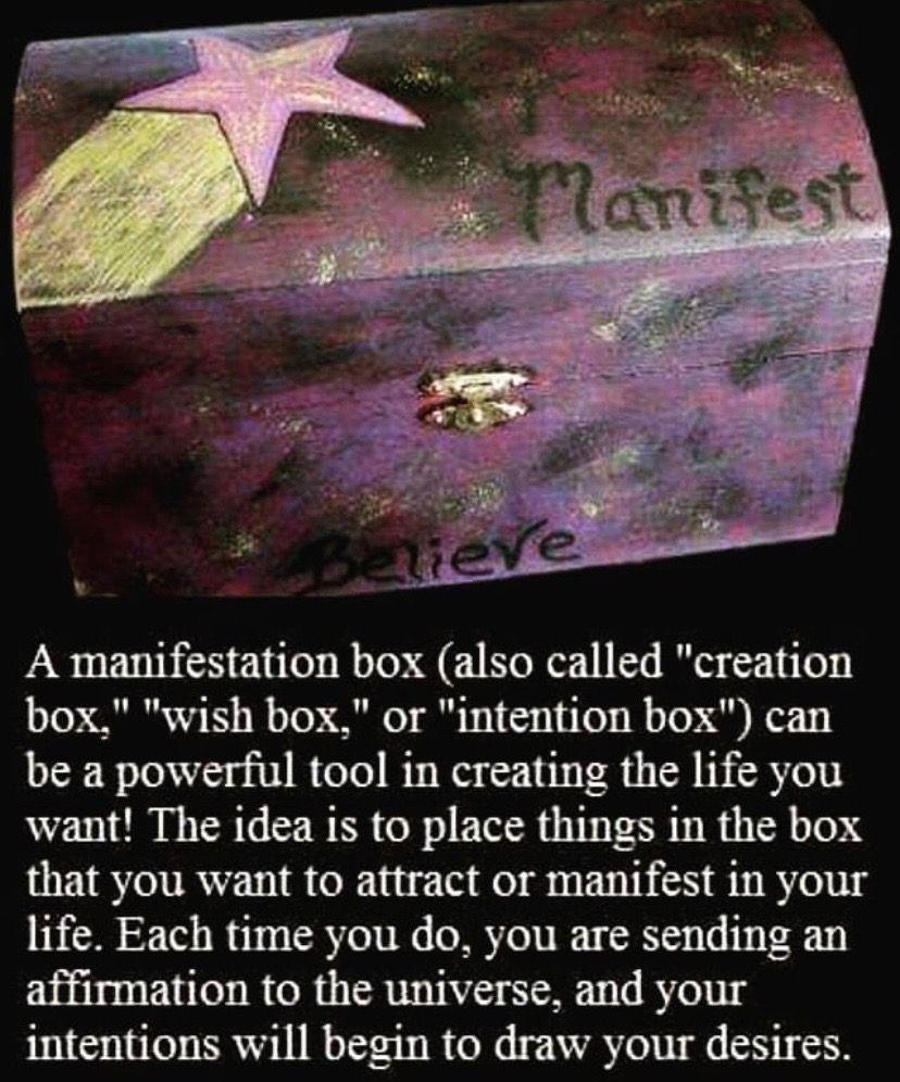 Manifestation box Wish box, Manifestation