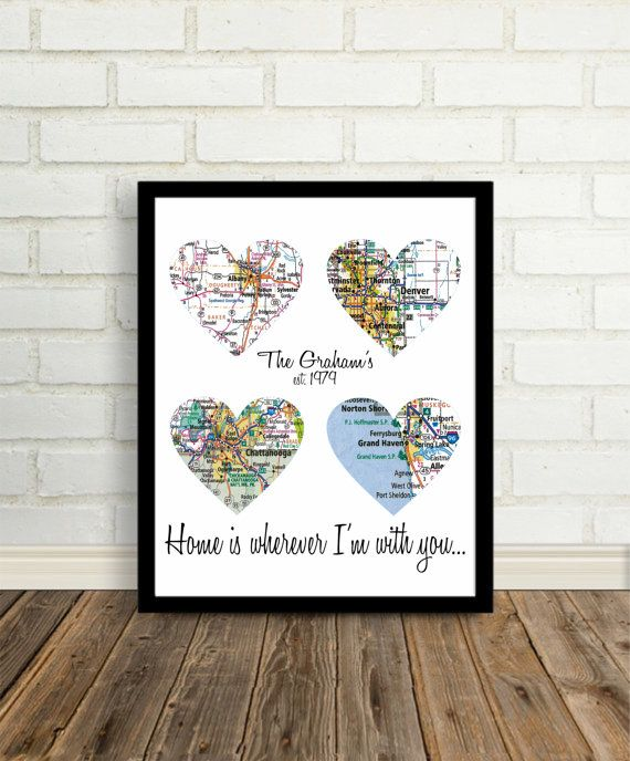 Home is Where The Heart Is Personalized Map Art by DefineDesign11