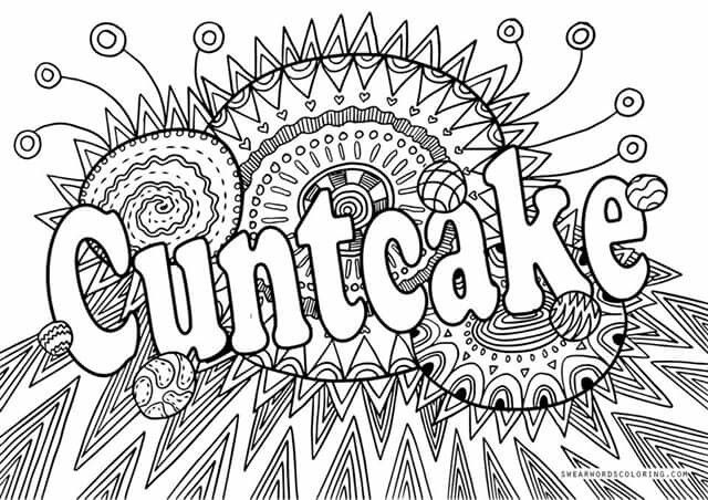 Cuntcake Adult Coloring Books Printables Free Adult Coloring