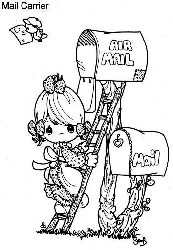 Dia Del Cartero Caricaturas Para Pintar Libro De Colores Dibujos