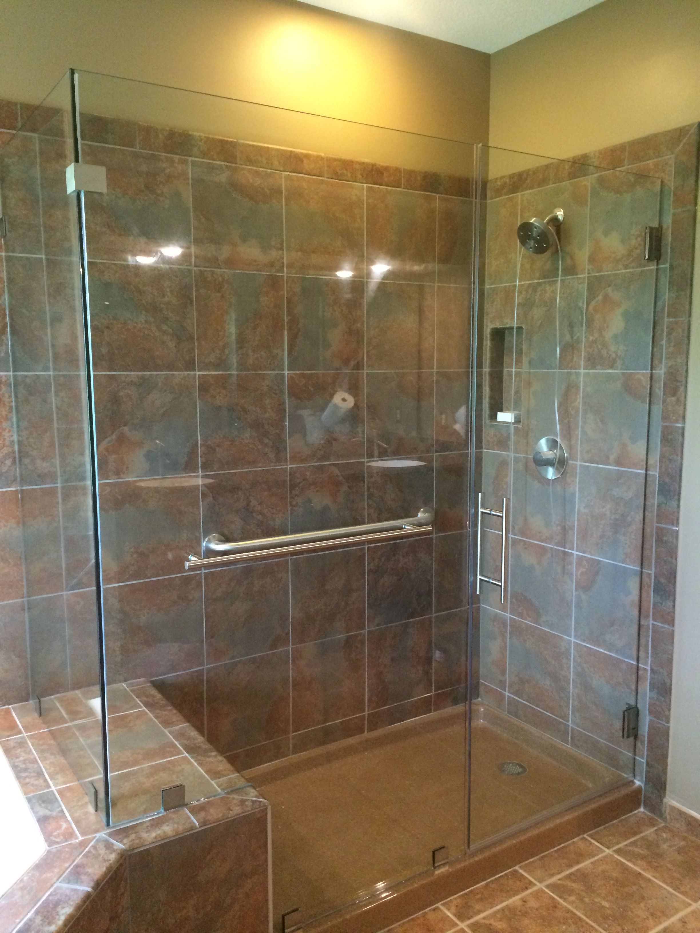 Pin By Precision Glass Services On Heavy Glass Shower Doors