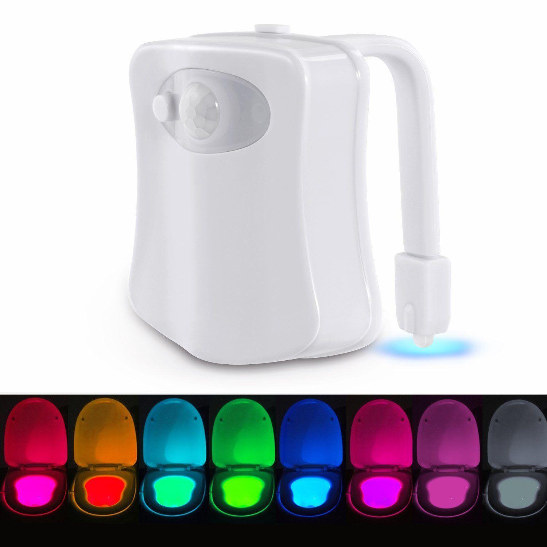 Us 6 40 8 Farben Led Toilet Light Changing Bewegung Aktiviert Badezimmer Wc Sitz Nachtlicht Lampe Badezimmer From Haus Und Garten On Banggood Com Nachtleuchte Nachtlicht Led