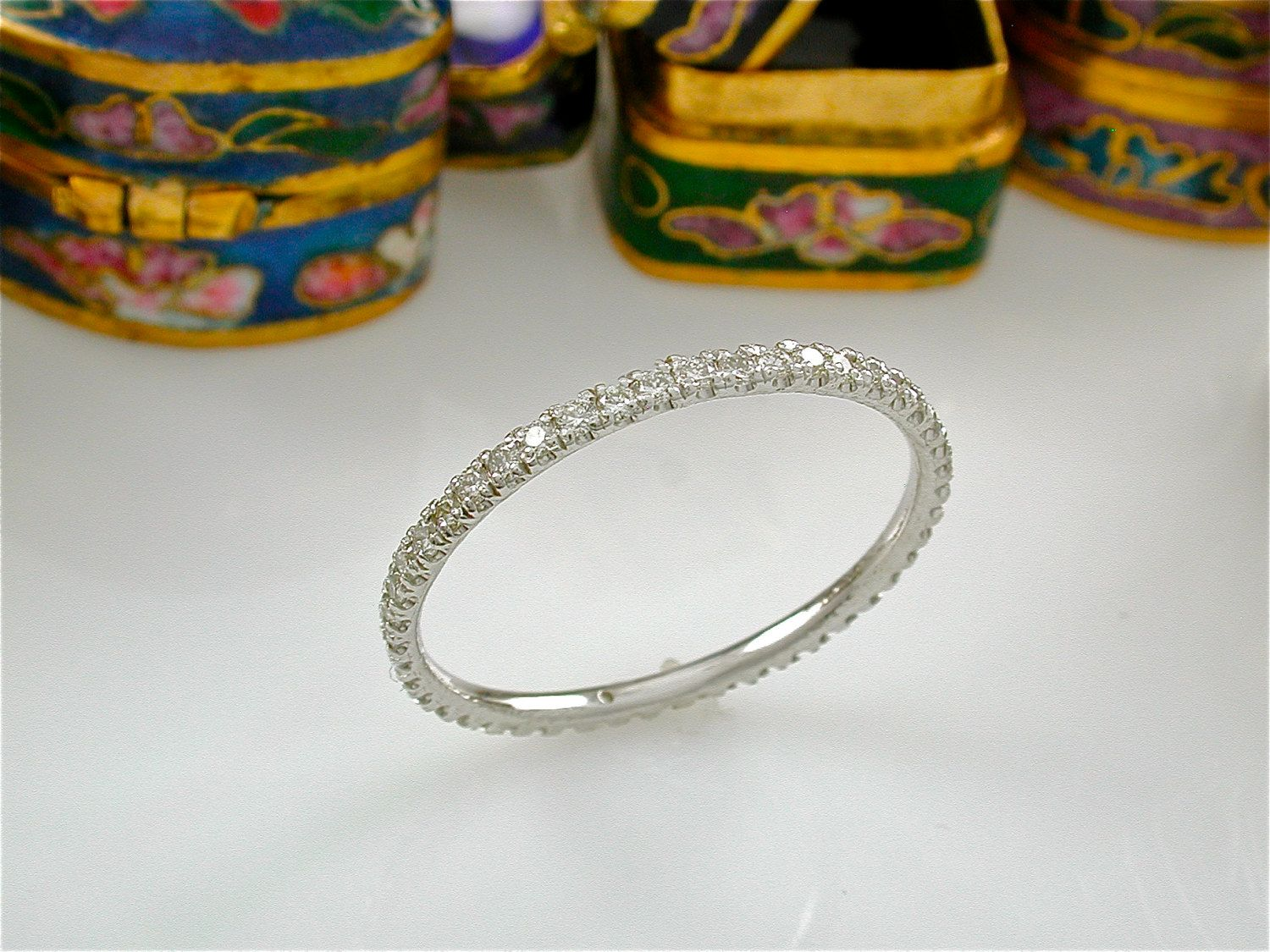 Tiny Diamond Eternity Ring Stacking Band Stack Made In The Usa Wedding