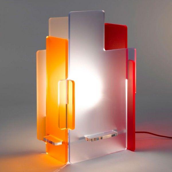 Lampe Déco 2019 De GaliObjets Chevet Plexi En 53AjL4cRq