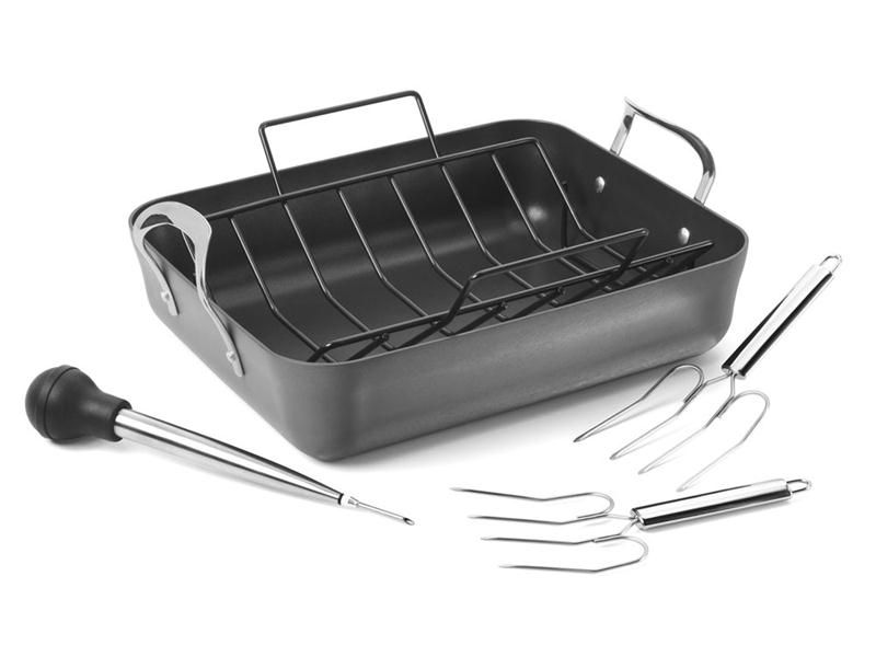 Calphalon Contemporary Stainless Steel 16 Roaster With Roasting Rack Calphalon Contemporary Calphalon Stainless