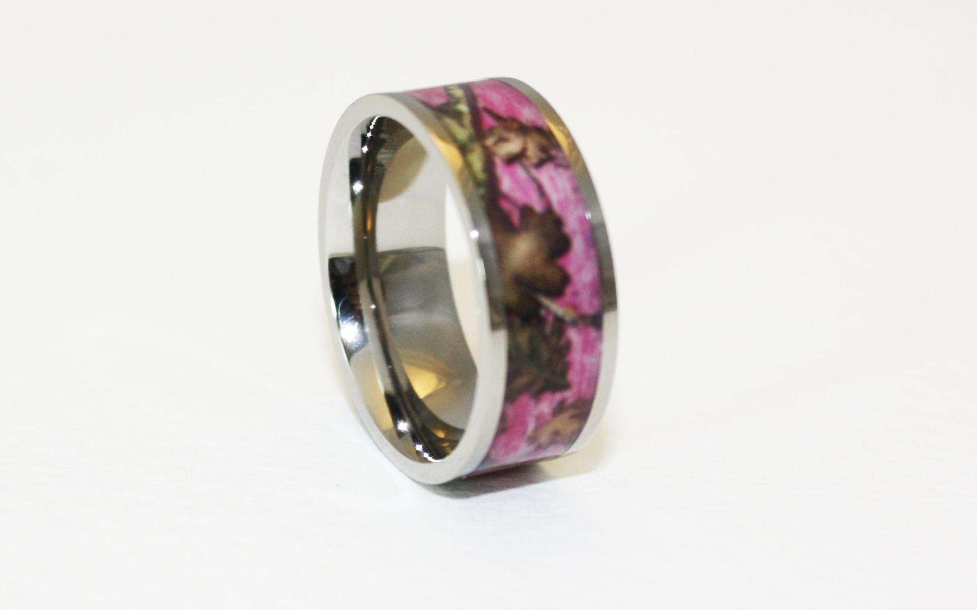 1 Camo Wedding Rings Camouflage Gear ONECAMOcom Pink camo