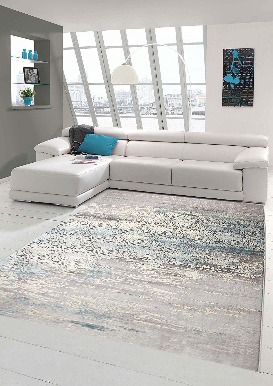 Designer Teppich Moderner Teppich Wollteppich Meliert Wohnzimmer