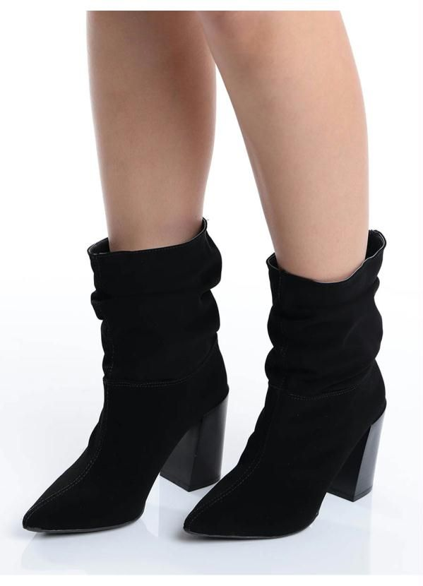 5021cd20b2 Ankle Boots Bico Fino Lara Preto | Products
