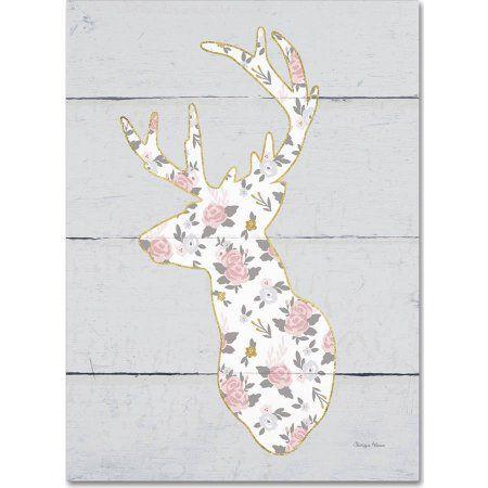 Trademark Fine Art Floral Deer II Canvas Art by Cleonique Hilsaca, Multicolor