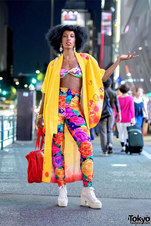 Colorful Harajuku Street Style w/ Hello Kitty Kimono Jacket, Eva B