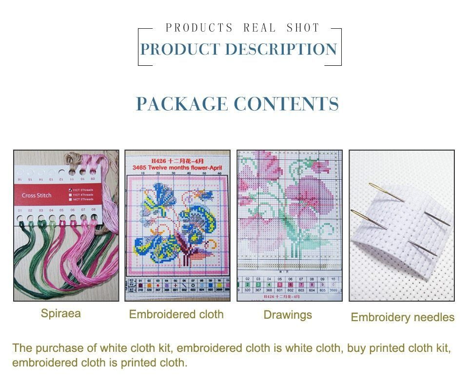 11ct 14ct Variety Specifications Needlework Embroidery Cross