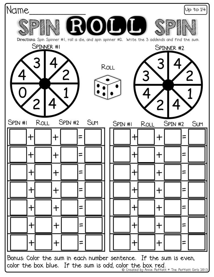 Interactive math-Spin a spinner, roll a die and spin the spinner ...