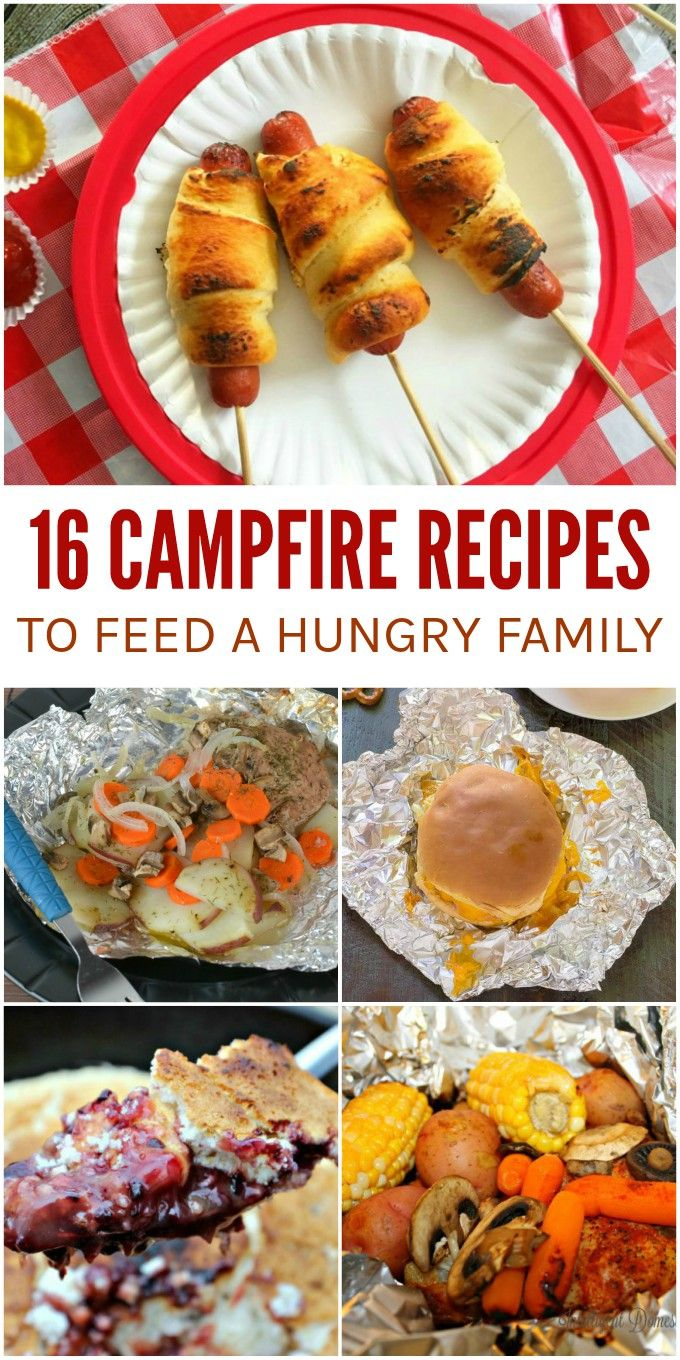 Look beyond trail mix and pre-made camping foods. These campfire recipes are sure to satisfy your family's big appetites the next time you're in the great outdoors.