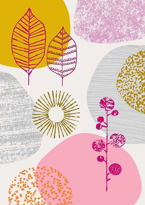 Natur No7 limitierte Auflage Giclee print von EloiseRenouf auf Etsy #surfacepatterndesign
